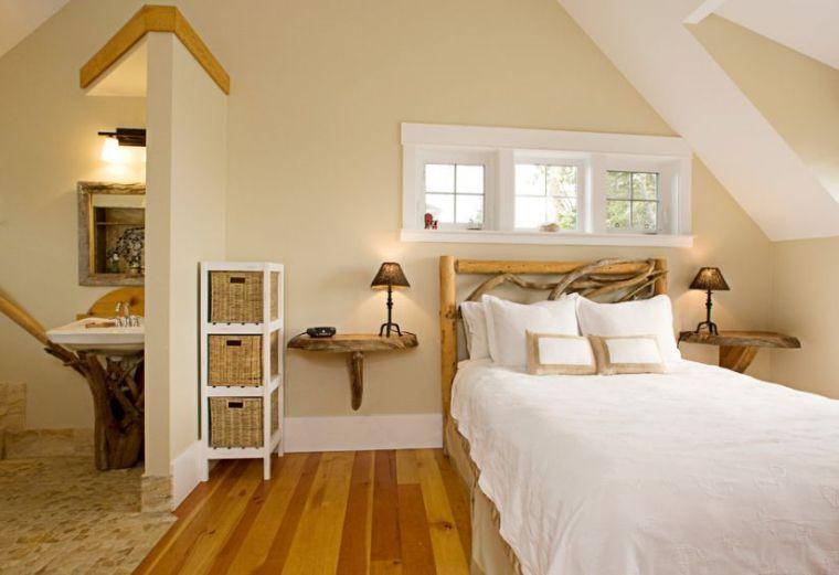 Tête de lit bois flotté pour une chambre d\'ambiance naturelle | Lit ...