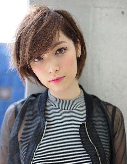 Cute Short Hairtyle Cute Short Haircuts For Girls Girls Short Haircuts Girl Haircuts Oval Face Hairstyles