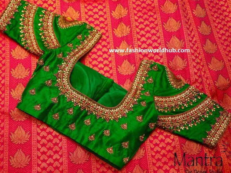 Bridal Silk Saree Blouse Designs - Mantra -The Design Studio | Fashionworldhub #blousedesigns
