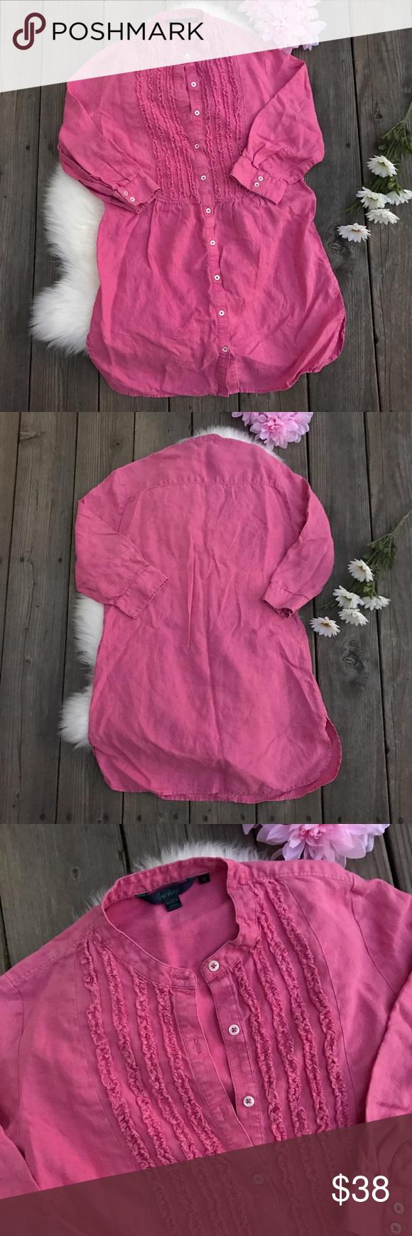 Boden Ruffle💕Tunic Dress! Sz 12 Boden Ruffle Tunic Dress! Boden Dresses Mini