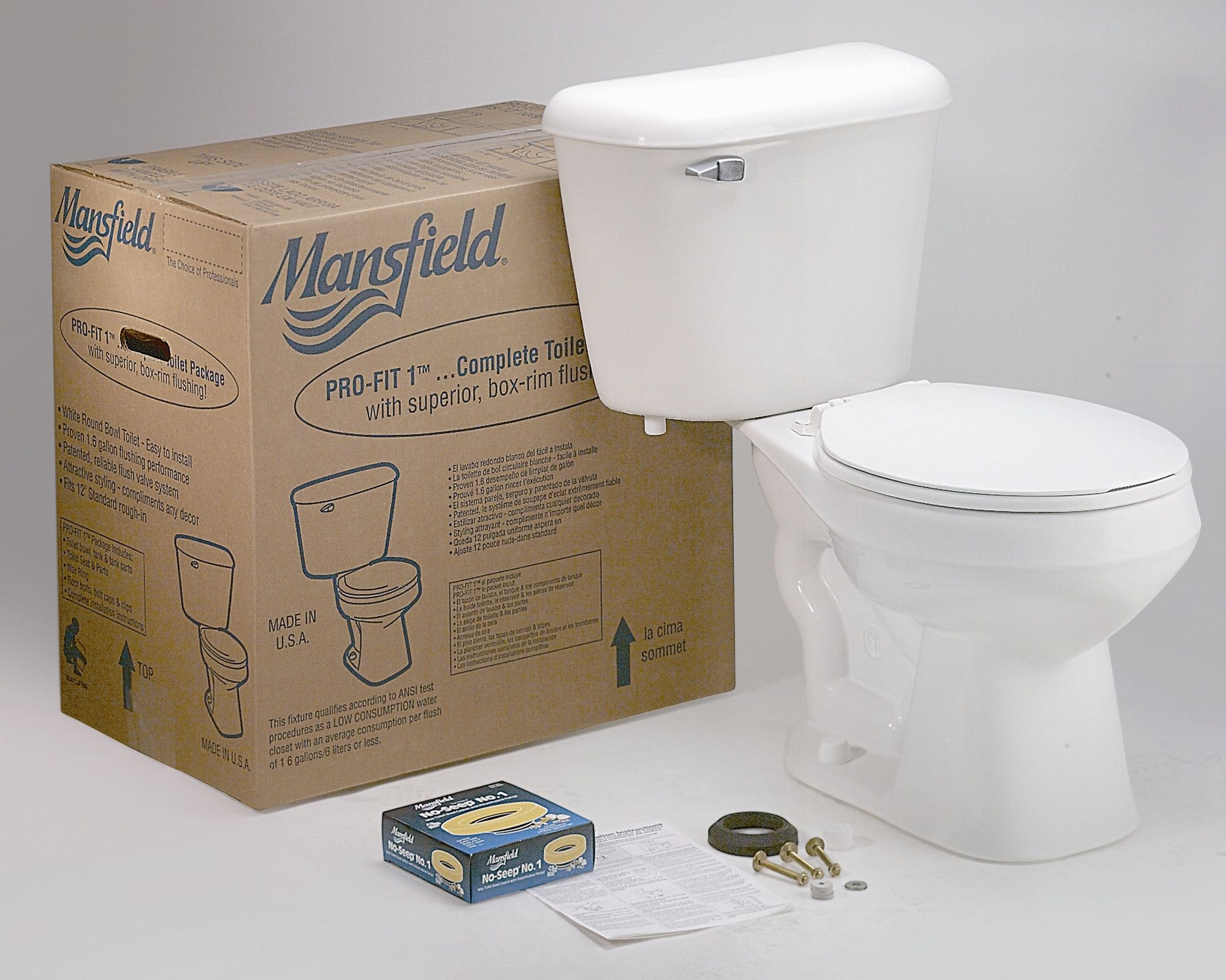 Pro Fit 1 Front Complete 1 6 Gpf Round Two Piece Toilet Seat Included Toilet Traditional Toilets Dual Flush Toilet