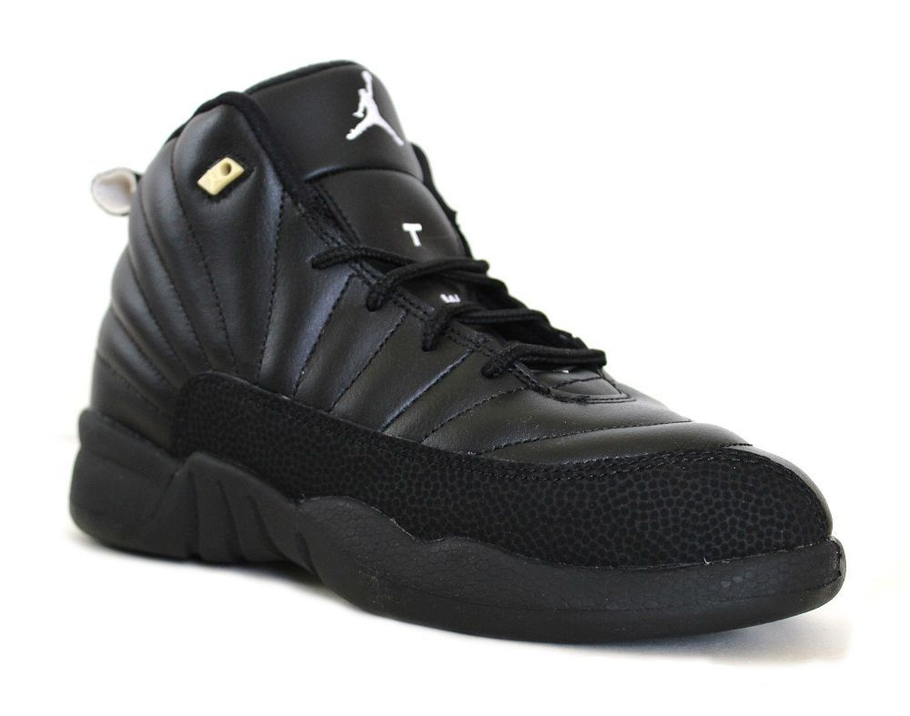 62ee55357684 Nike Air Jordan 12 Retro BP The Master Basketball Shoes 151186 013 Black Gold  2Y  Nike  BasketballSneakers