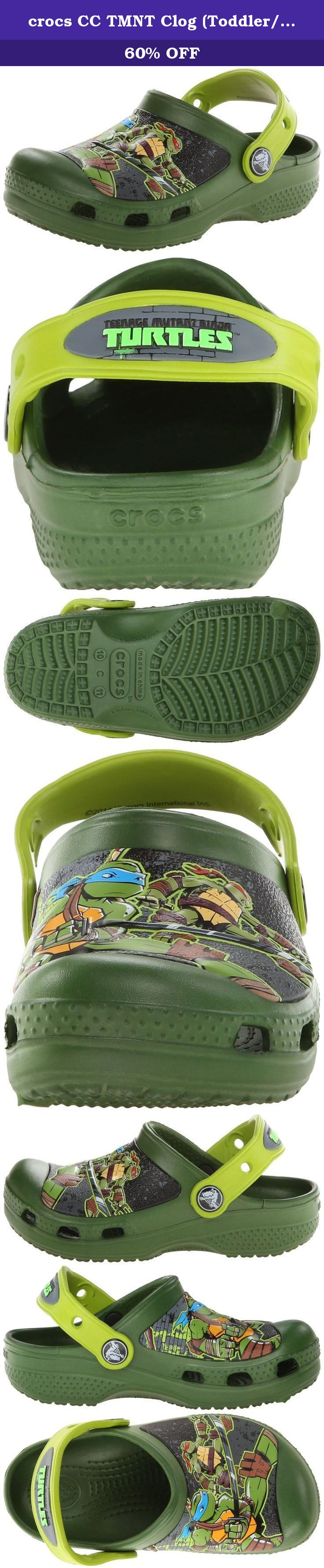 3772a800478 crocs CC TMNT Clog (Toddler/Little Kid/Big Kid),Seaweed/Volt Green,4 M US  Toddler. Crocs CC TMNT Clog - Sea Weed/Volt Green.