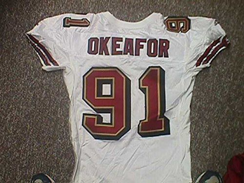 check out 201fe 7bbcf Chike Okeafor San Francisco 49ers 1999 Game Worn Jersey ...