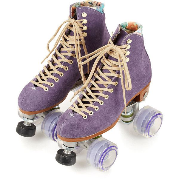 Moxi Purple Roller Skates (1.345 BRL) ❤ liked on Polyvore featuring shoes, purple, fillers, roller skates and skates