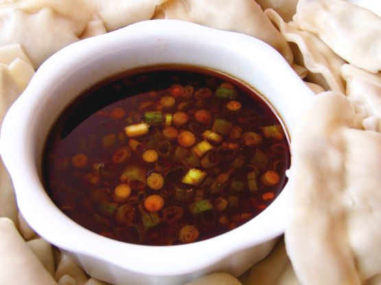 This simple sauce can be thrown together with items most people have in their pantries!  Great for dipping potstickers, Spring rolls or Summer rolls.  The Asian hot sauce in the ingredient list below can be subbed with Asian hot chili oil, if you prefer.  I like to use Sriracha Hot Chile Sauce.