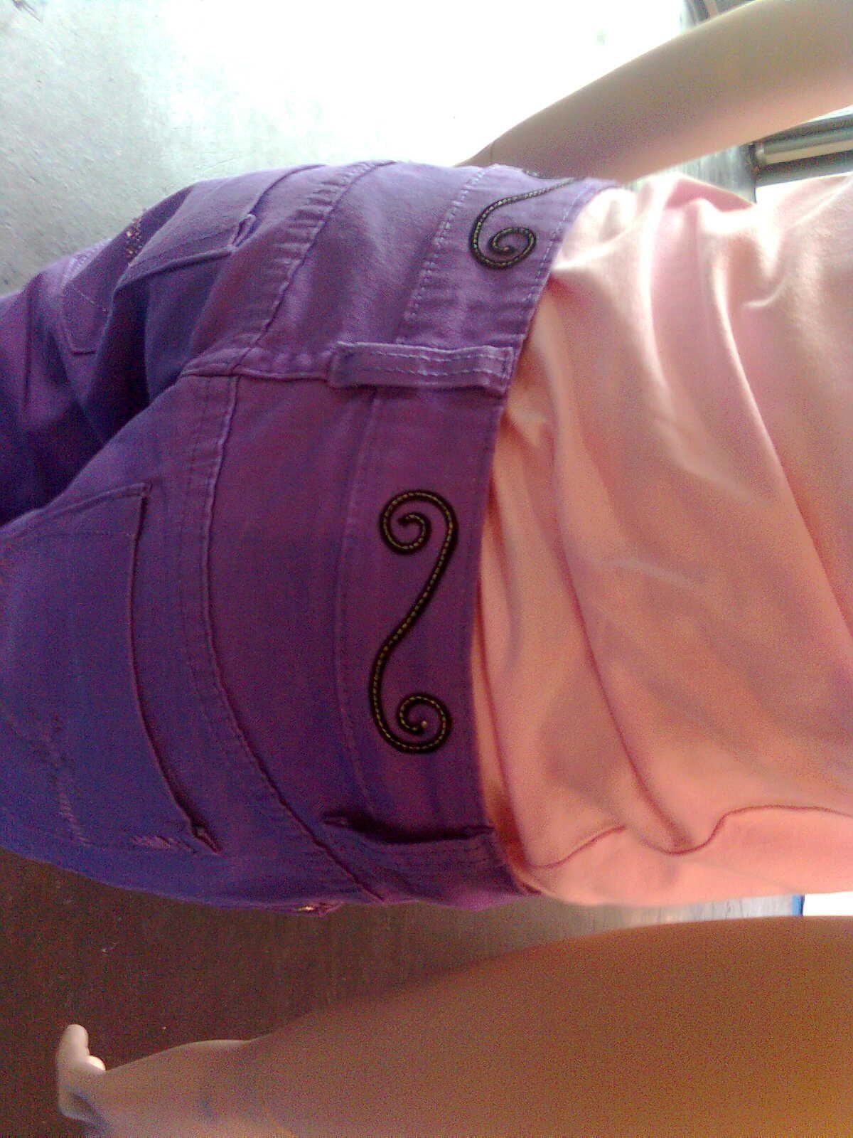 #Laser decoration on woman jeans