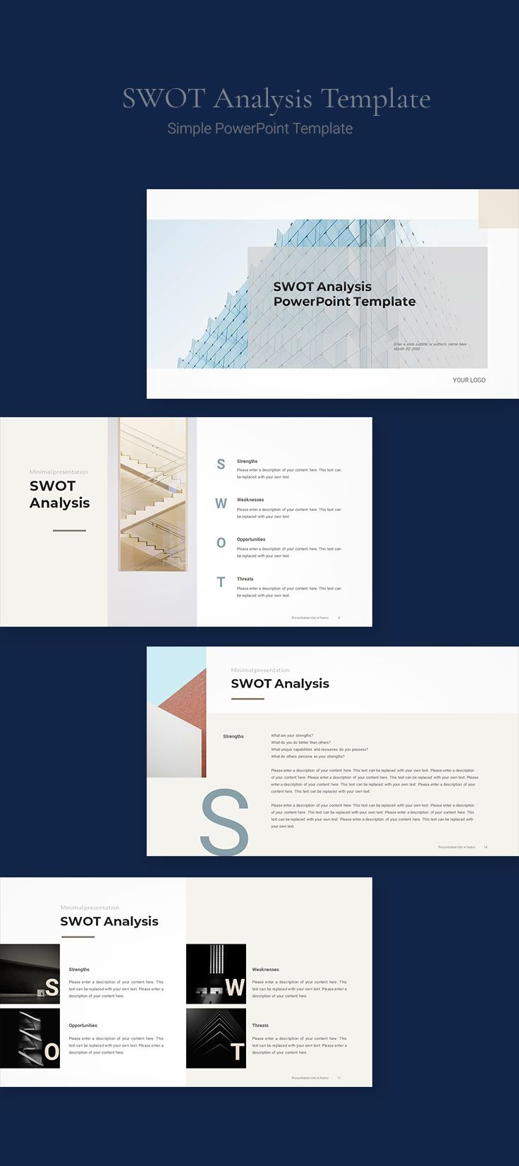 SWOT Analysis Template Download PPT in