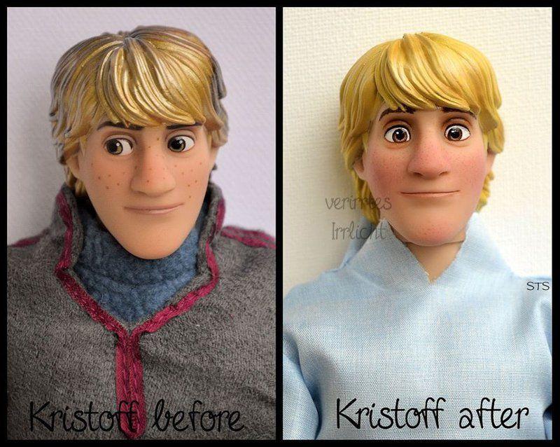 Repainted Ooak Summer Kristoff Doll By VerirrtesIrrlicht On - Artist repaints disney princesses to look more realistic with amazing results