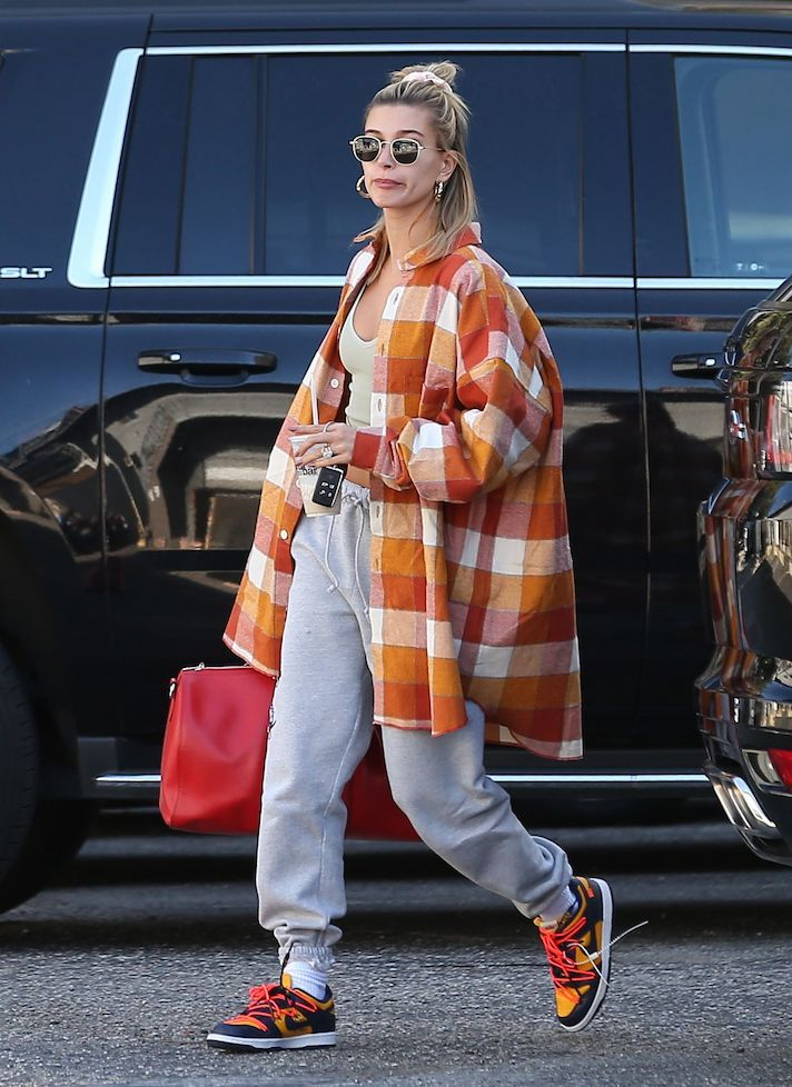 Hailey Bieber Knows How to Rock an Oversized Shirt Like No One Else