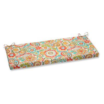 Pillow Perfect Bronwood 45 in. Bench Cushion Carnival - 569185