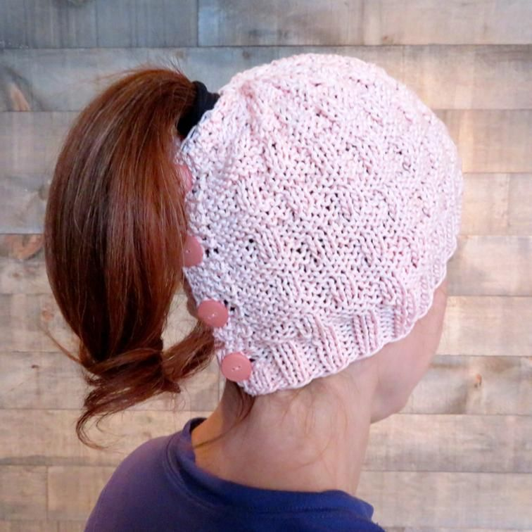 Say buh-bye to frizzy hat hair with these ponytail-friendly hat knitting  patterns 2fe72d2dd96