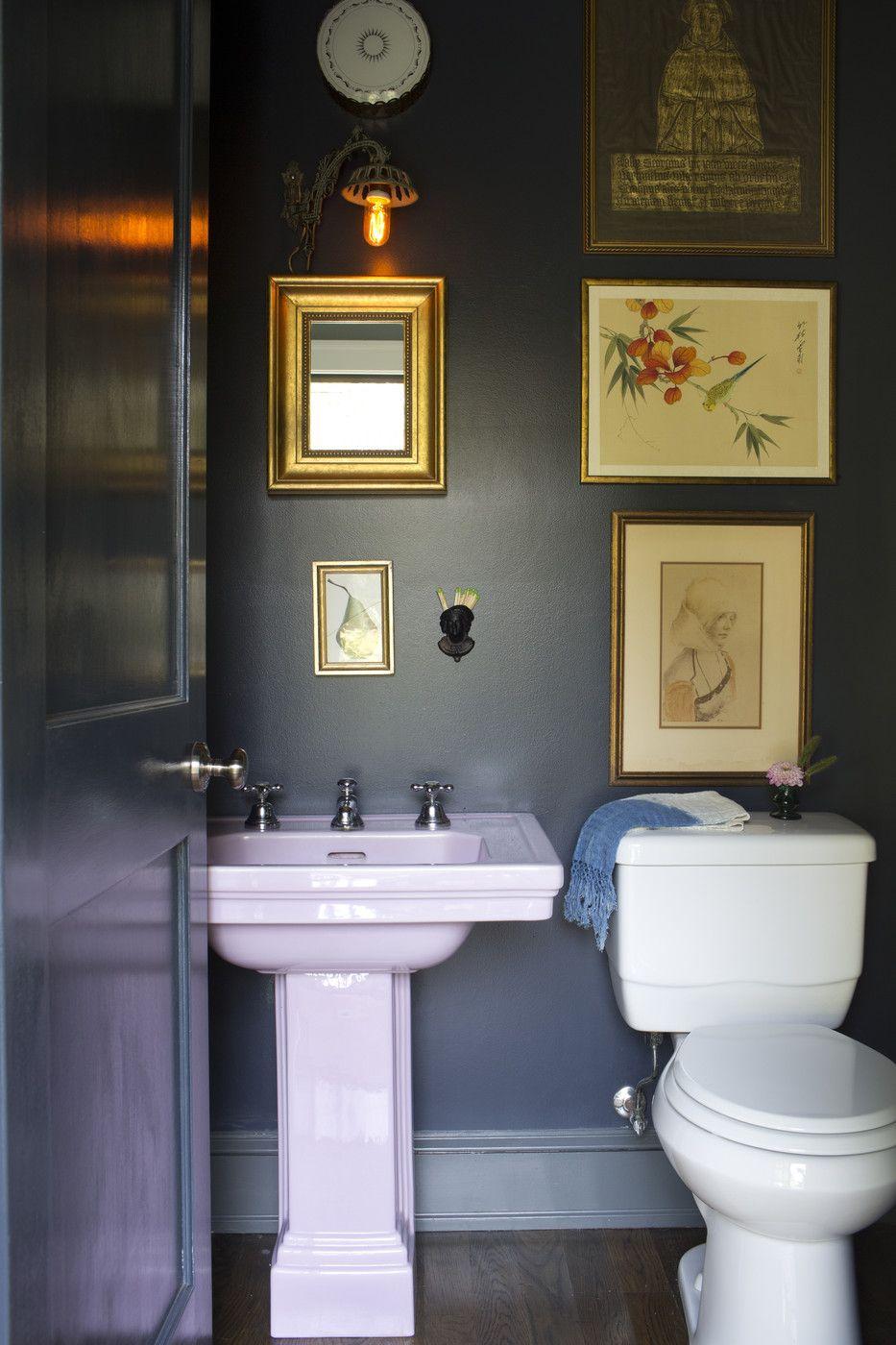 Half bathroom decor Think Differently Clean