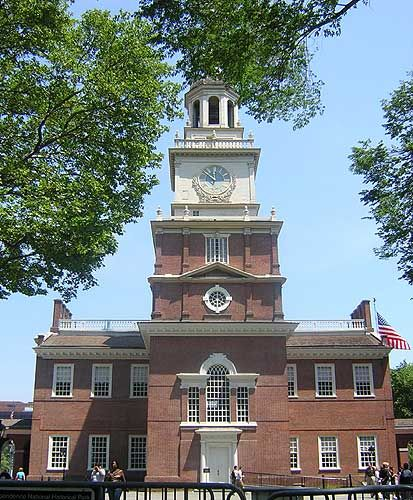 The Philadelphia Constitutional Convention took place in 1787. The rule of secrecy surrounded the arguments that went on inside this hall as the forefathers hashed out a constitution.