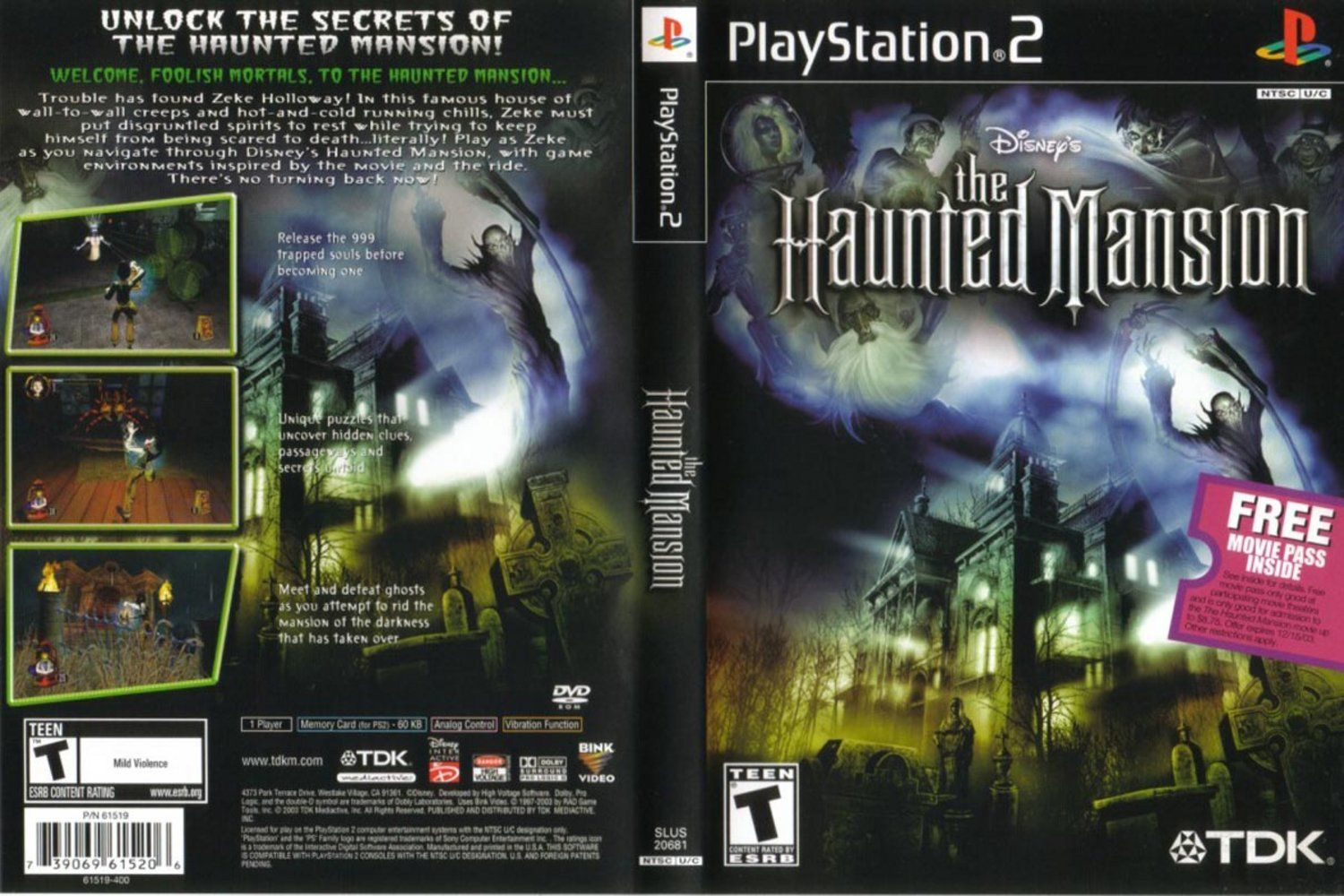 Disney's The Haunted Mansion (USA) ISO < PS2 ISOs