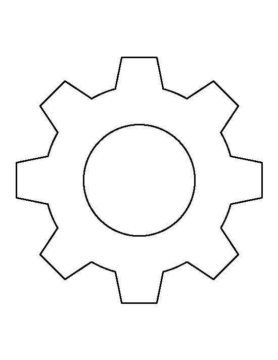 Gear pattern Use the printable outline for crafts, creating - blank outline template