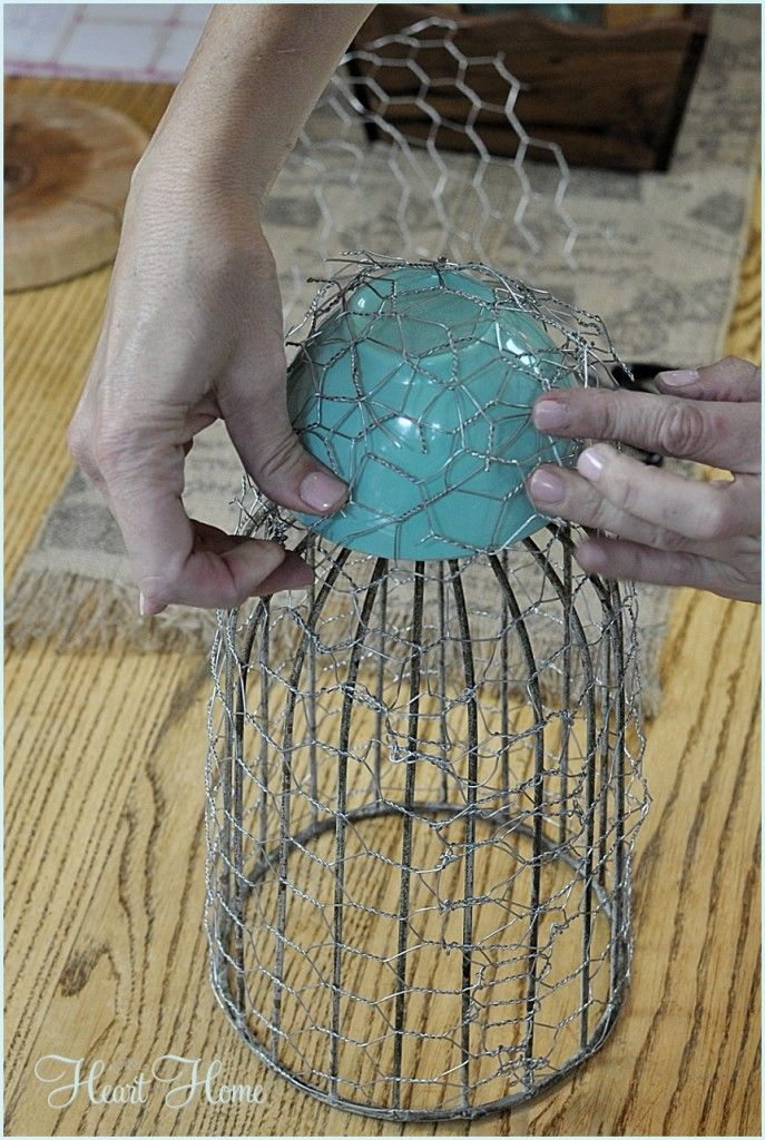 Chicken Wire Cloche | Chicken wire, Chicken wire crafts and Wire craft