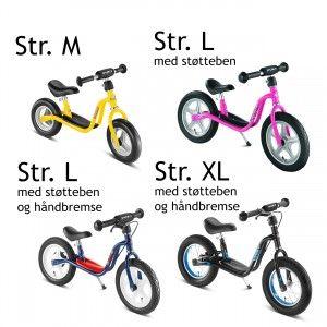 Kendte Puky størrelsesguide til løbecykler | Løbecykler | Trehjulet cykel IH-99