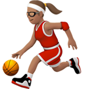 Person With Ball 3 Woman Basketball Emoji Women Emoji
