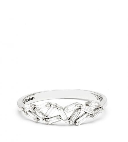 Shop :: COLLECTION :: Fireworks :: 18K WHITE GOLD BAGUETTE BAND - Suzanne Kalan
