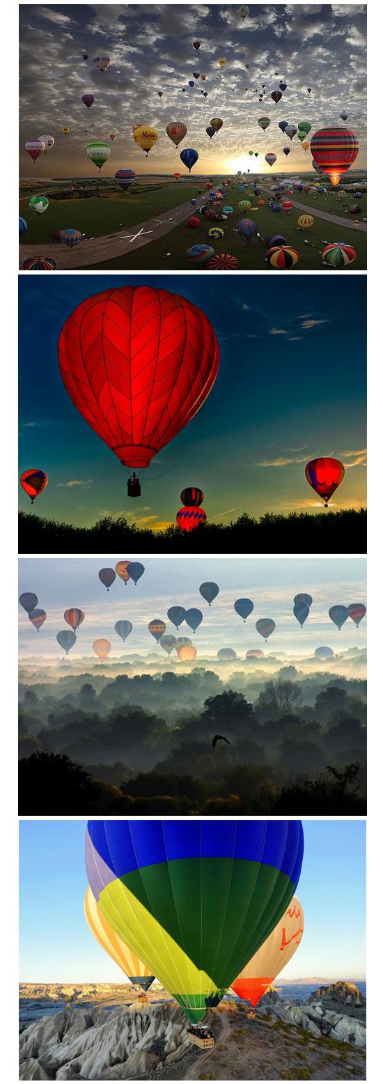 Hot Air Balloons going for a ride over Albuquerque