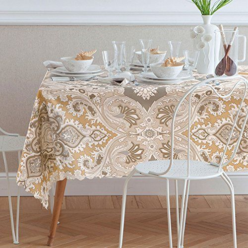 Waterproof Tablecloth Dining Room Table Linen Anti Oil Table Covers For  Home Hotel Cafe Restaurant K 55x71inch(140x180cm)