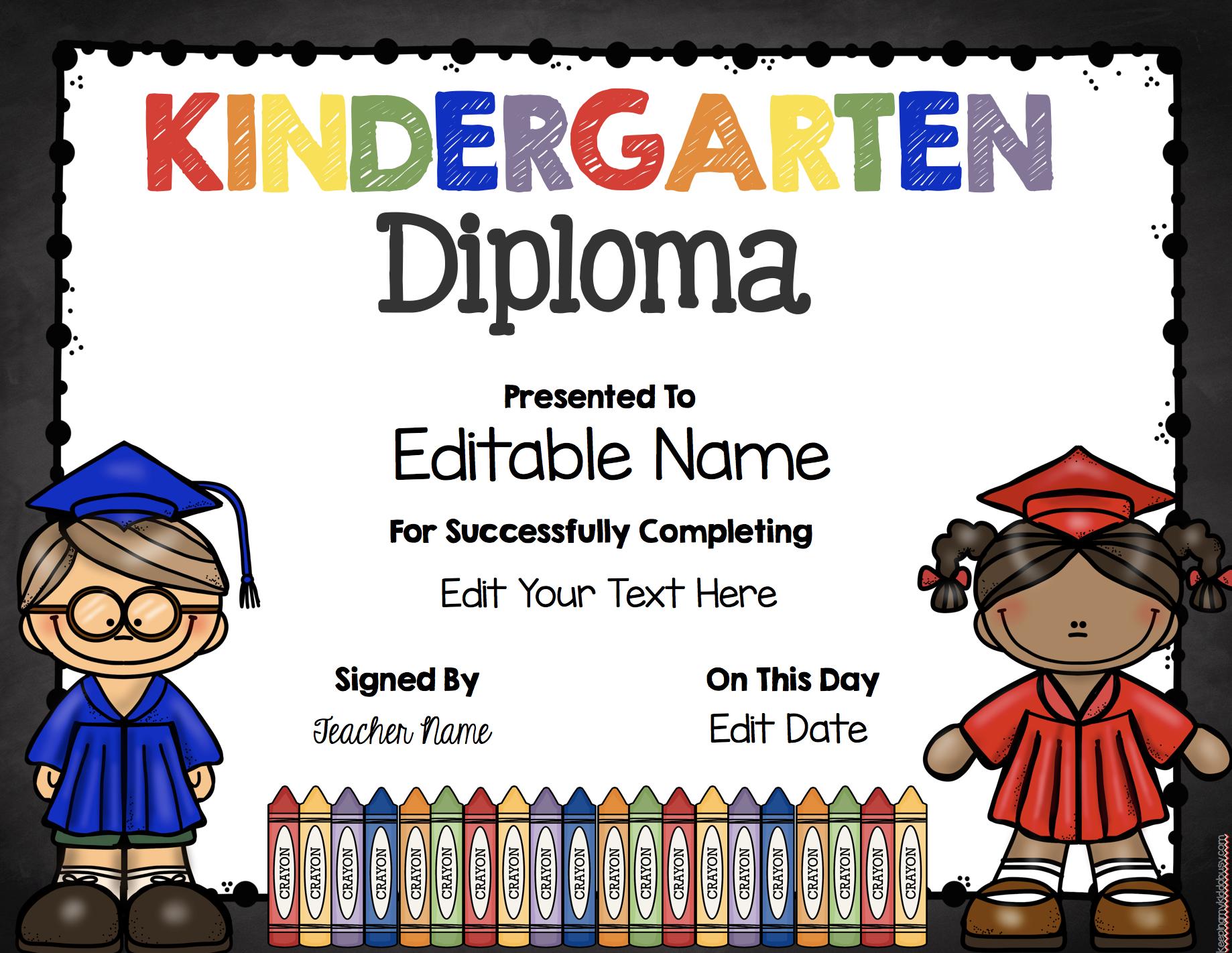 Graduation Class Rings Free Printable Keeping My Kiddo Busy Preschool Diploma Kindergarten Diploma Kindergarten Graduation Ceremony [ 1422 x 1838 Pixel ]