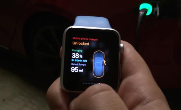 tesla phone screen Google Search Apple watch apps