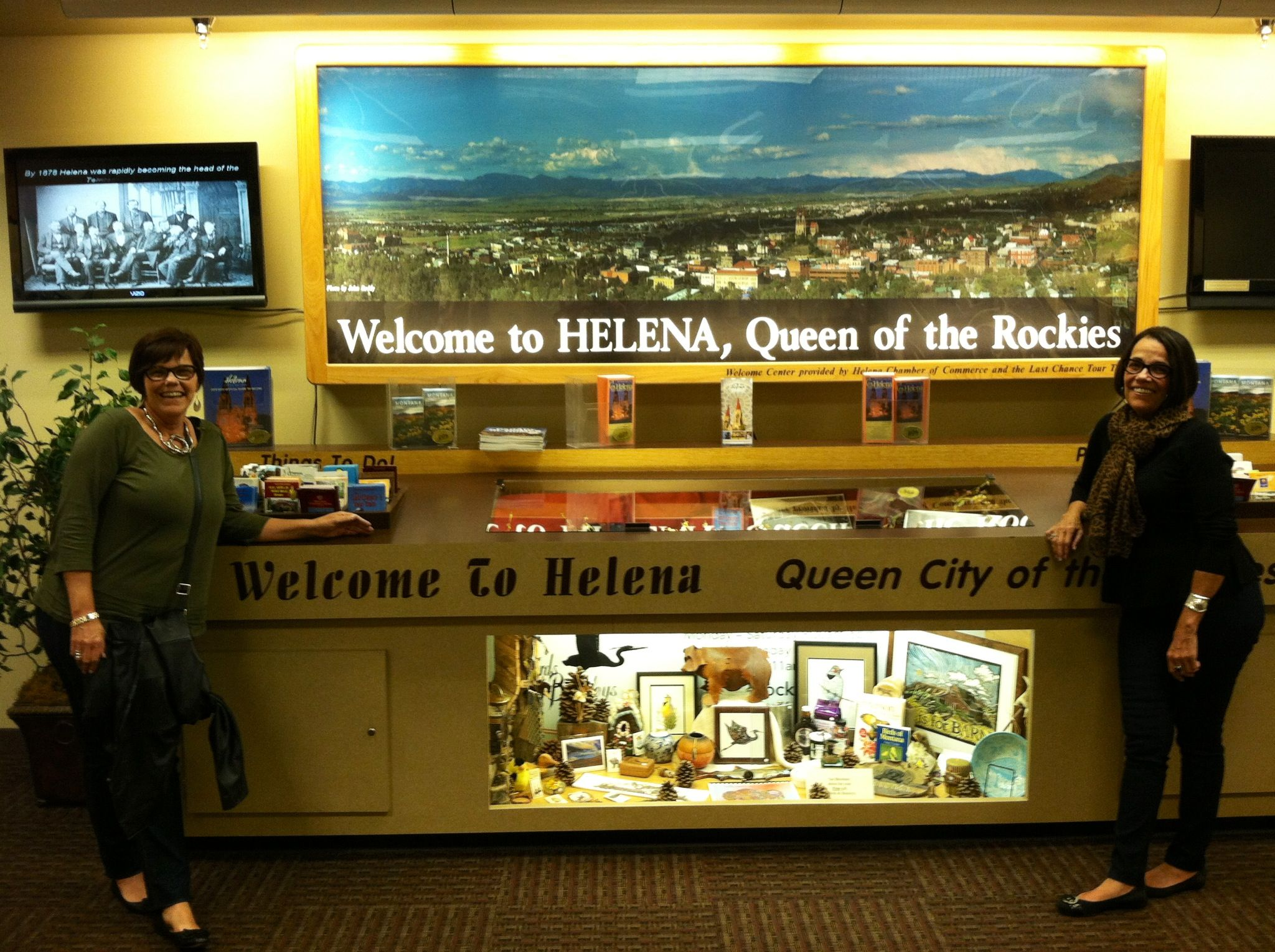 At the airport in Helena