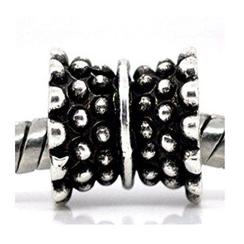 Dot Tabla Spacer European Bead Compatible for Most European Snake Chain Bracelets