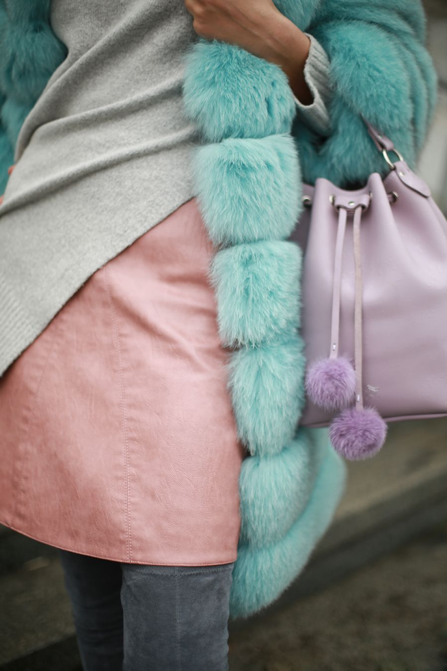 Lilac bucket bag by grafea afea bucket bags by grafea
