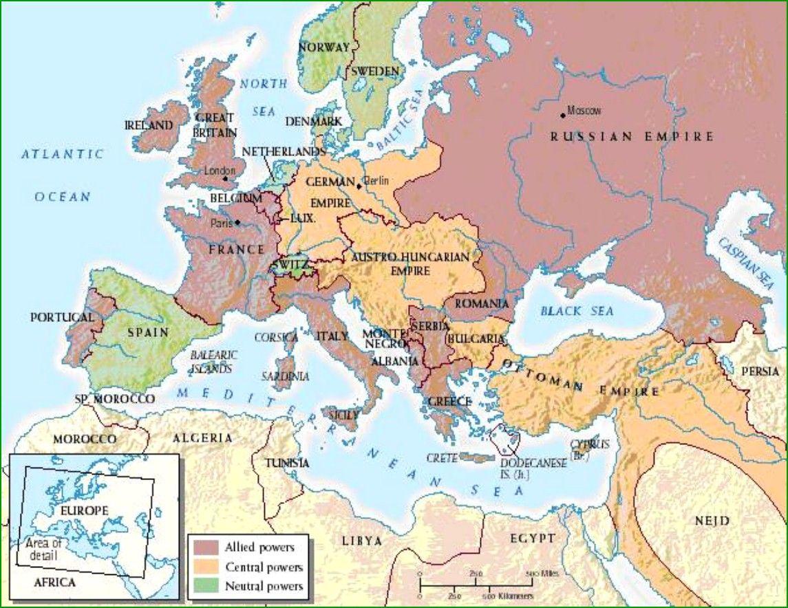 Map Ww1 Alliance System