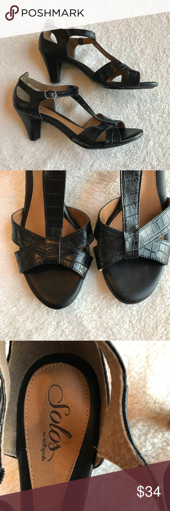 36e2eb2919 Solos by soft spots black pumps Excellent condition Softspots Shoes  Platforms