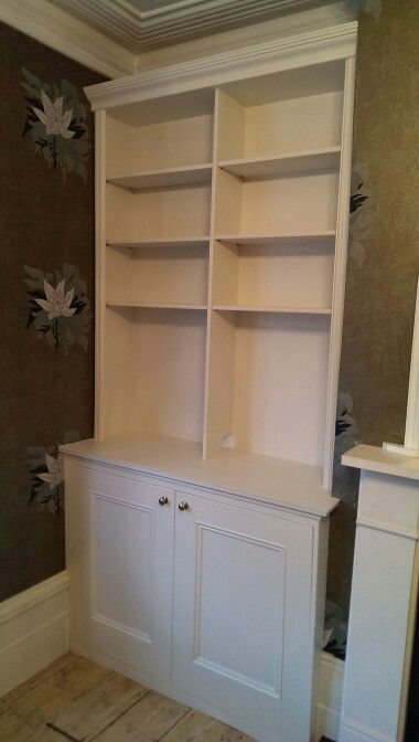 Alcove Storage, Made From Mdf With Decorative Trim On The Top And Sides.  Doors