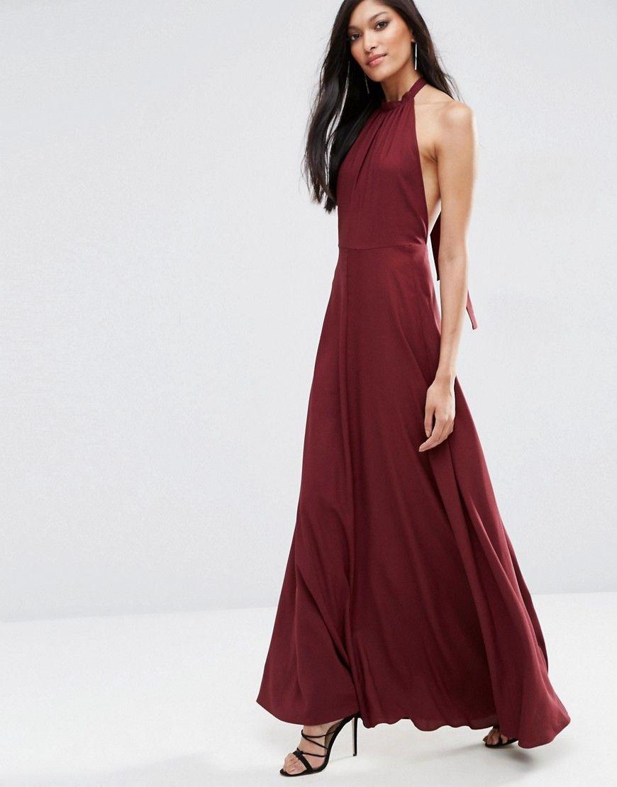 ASOS Open Back Maxi Dress Elegant Pinterest Maxi dresses