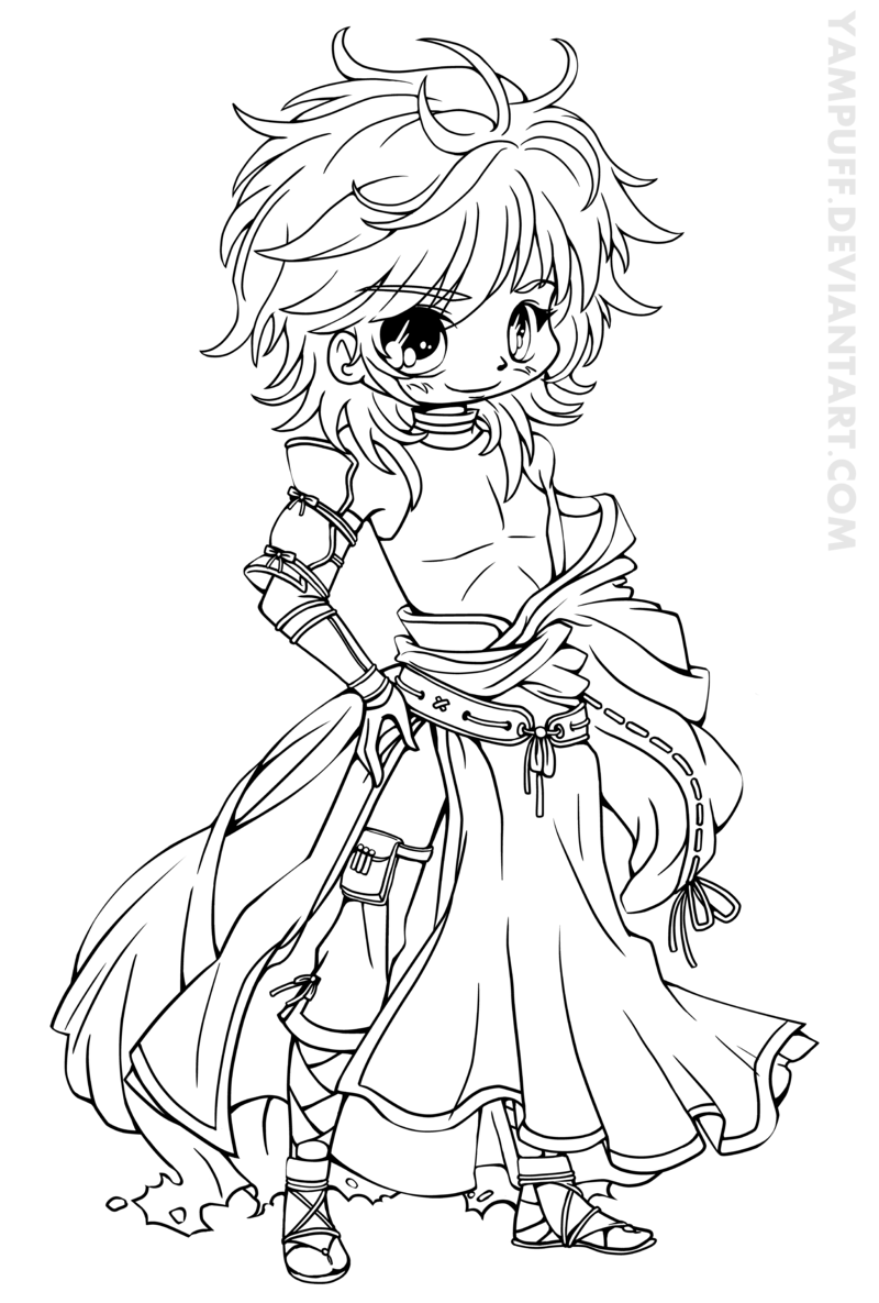 11++ Chibi anime girl coloring pages ideas in 2021