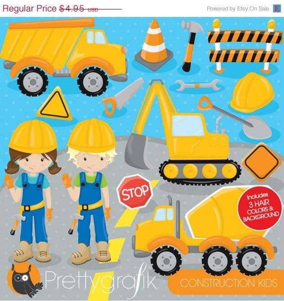 80 OFF SALE Construction Trucks Clipart Commercial Use Jungle Animals Vector Graphics Digital