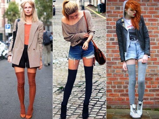 agora meias ate o joelho viraram moda e combinam com tudo tudo mesmo