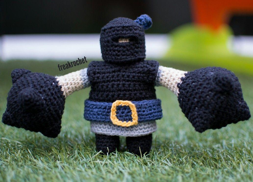 Totoro Azul Amigurumi : Megacaballero clash royale amigurumi crochet patrón de