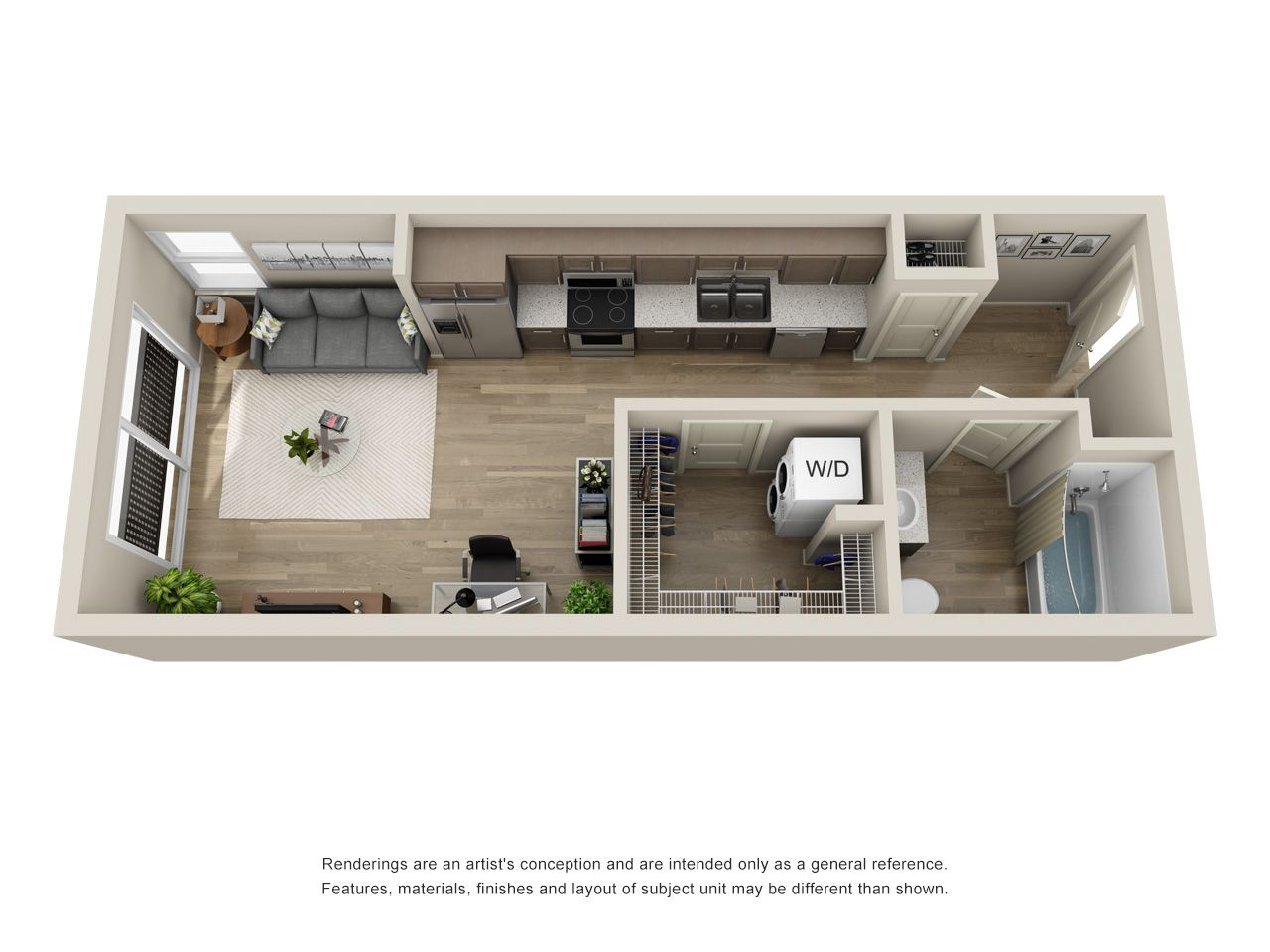 S1 Studio 490 Sq Ft Studio Apartment Layout Sims House Design Small Apartment Layout
