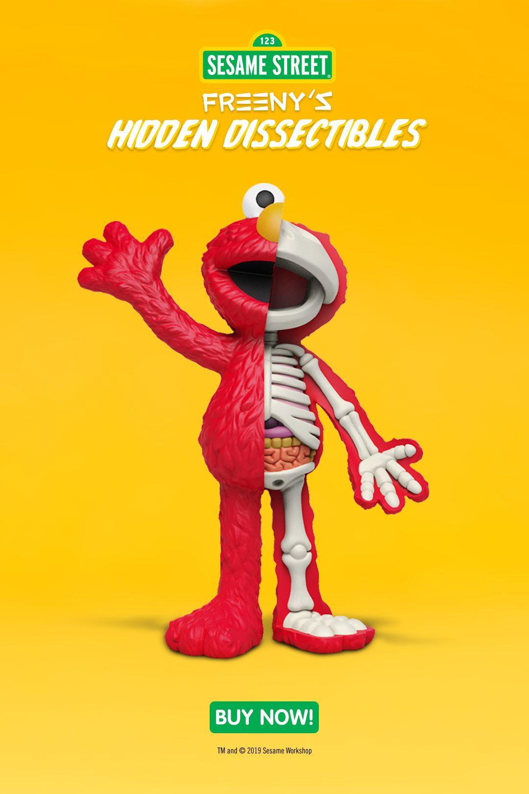Mighty Jaxx /& Jason Freeny Sesame Street Hidden Dissectible Vinyl Figure Toy