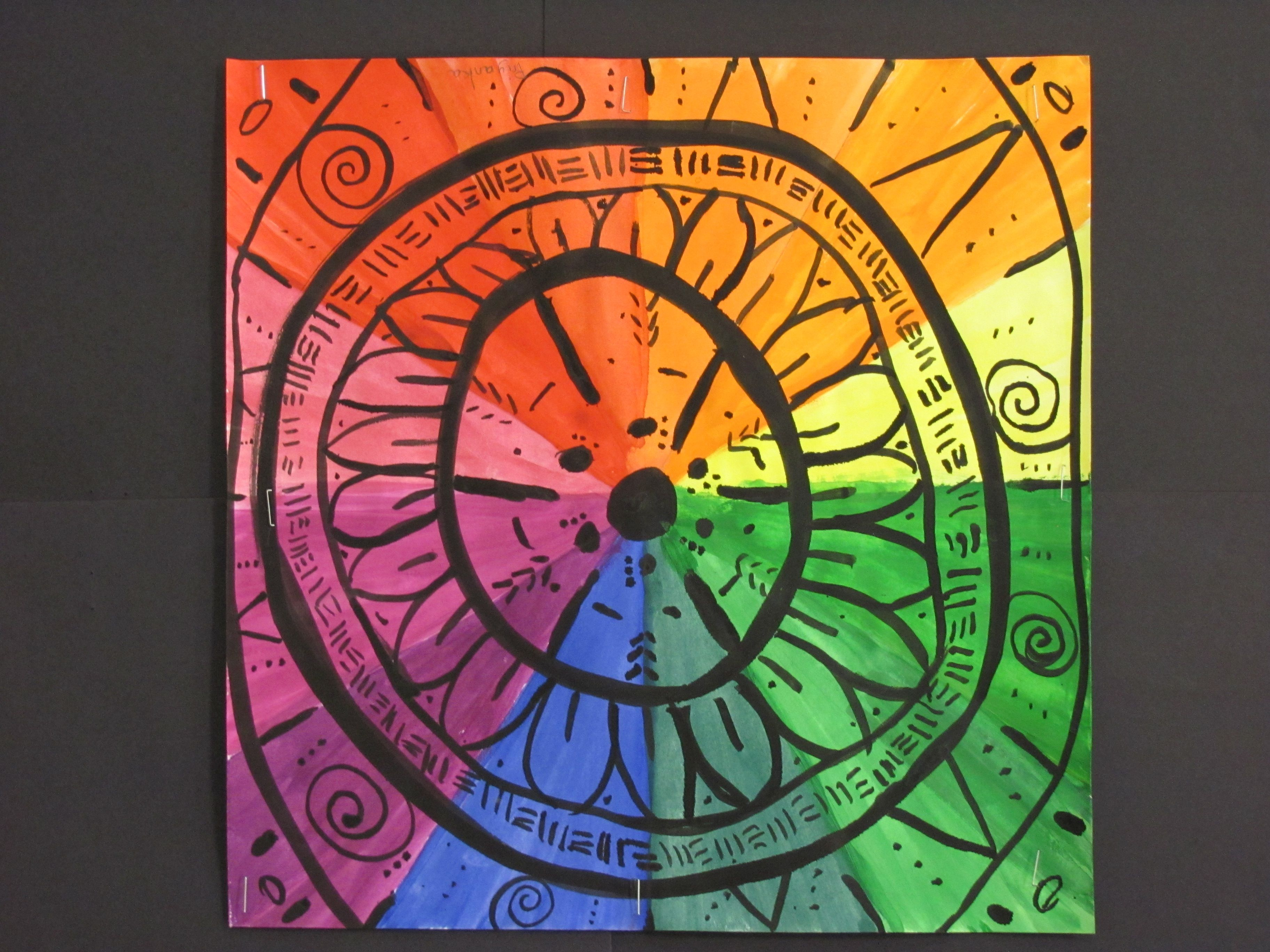 The Color Wheel With Radial Pattern Grade 5