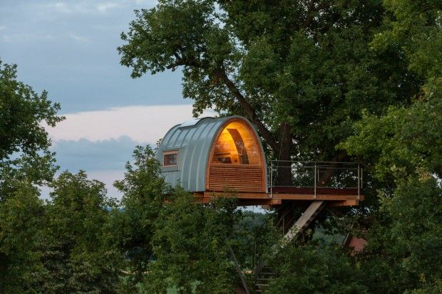 Andreas wenning treehouse from the german company baumraum