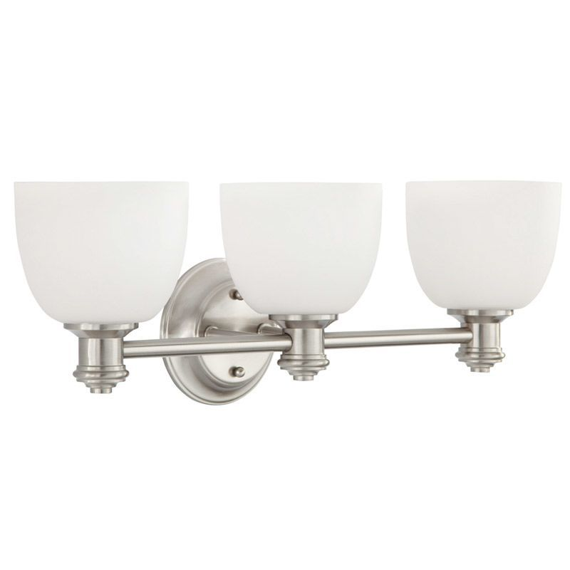 Photo of Park Harbor PHVL2133BN Brushed Nickel Peebles 23″ Wide 3 Light Bathroom Fixture – LightingDirect.com