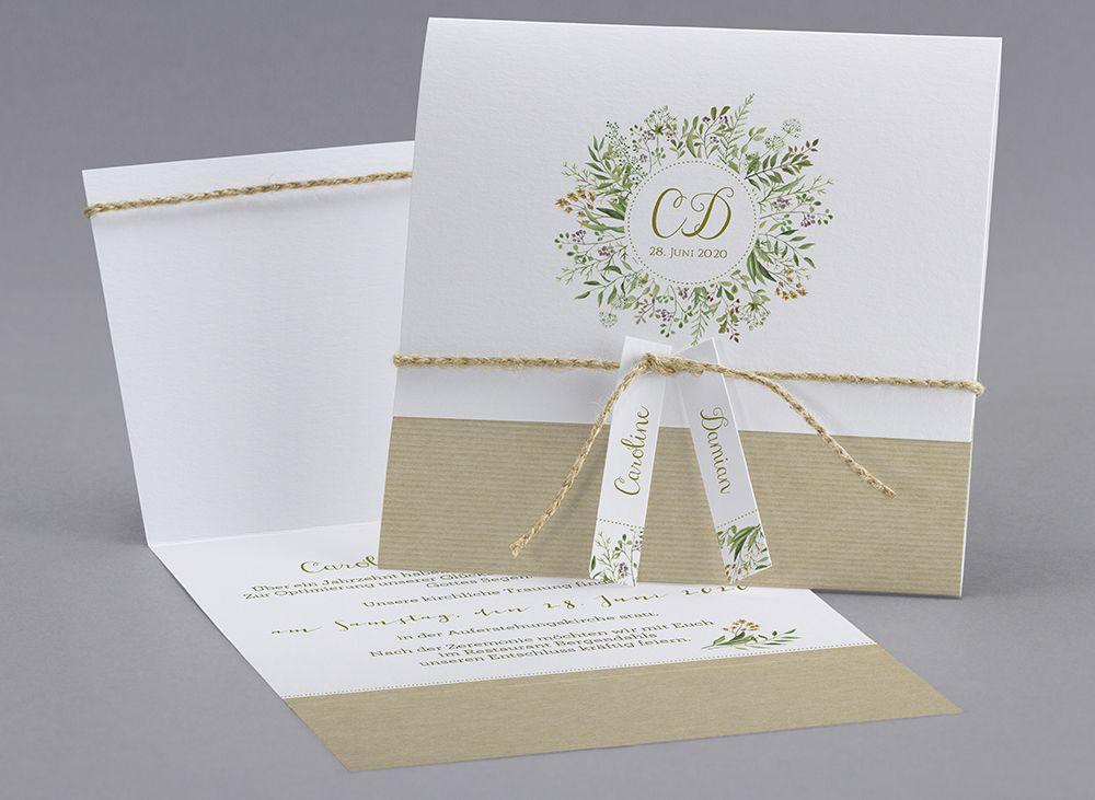 Faire-part M19-019 | Einladungskarten | Pinterest | Wedding card ...