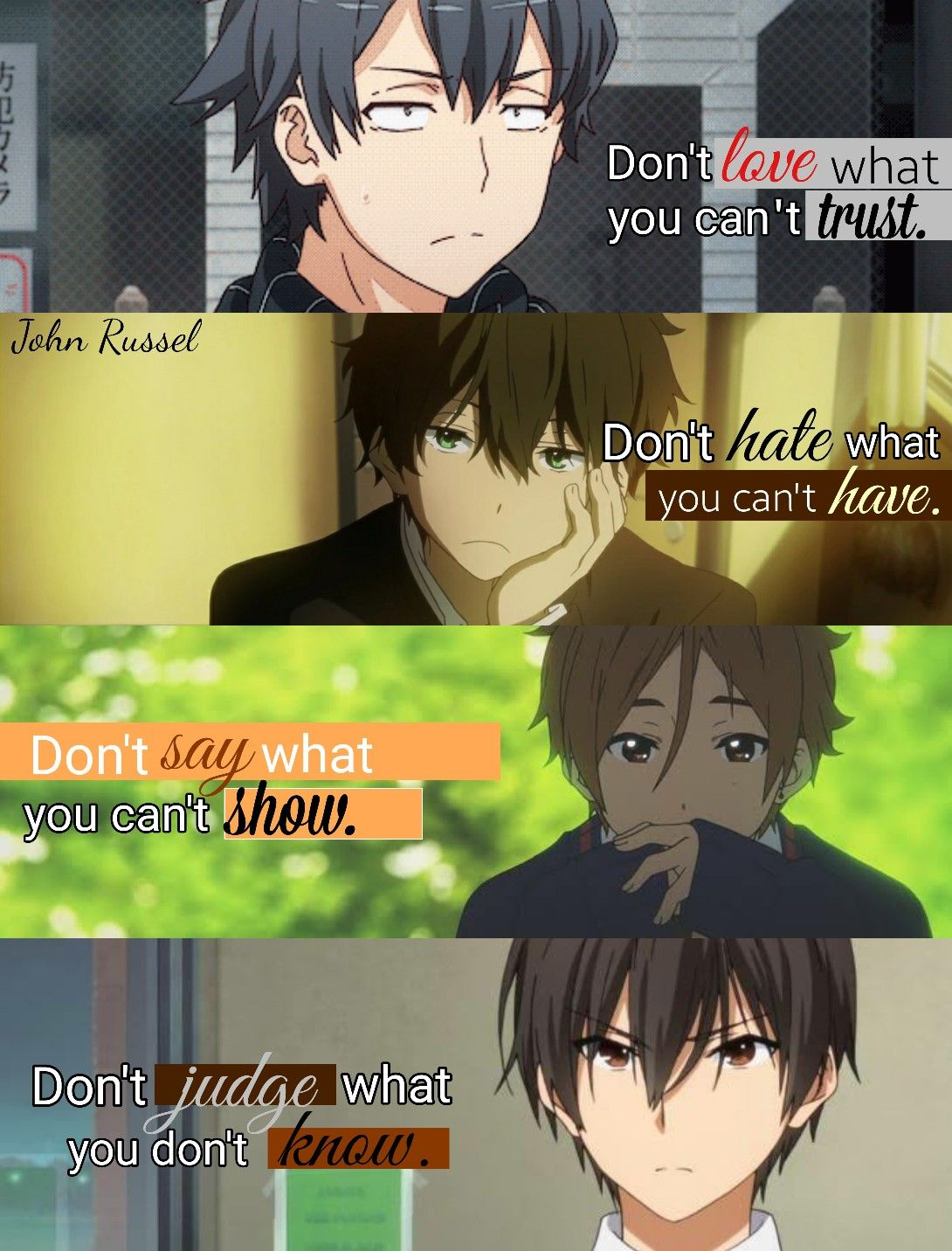 Pin on Anime Quotes Edits