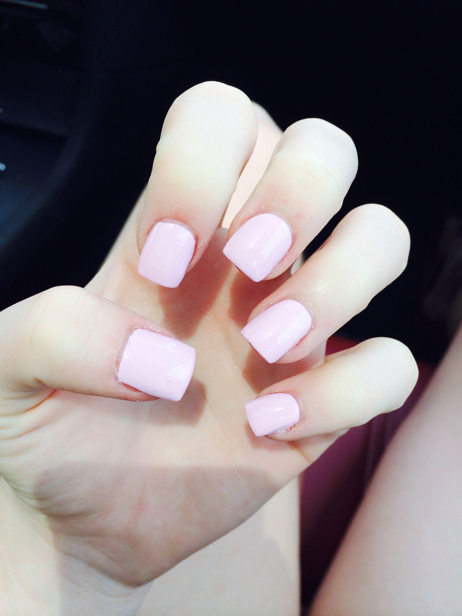 Short Light Pink Acrylic Nails Pink Nails Light Pink