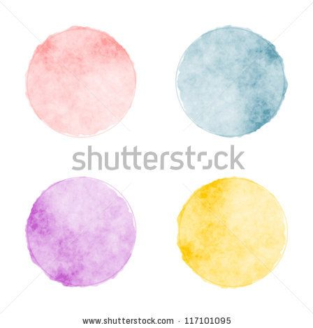 Vector watercolor stains by foxie, via ShutterStock