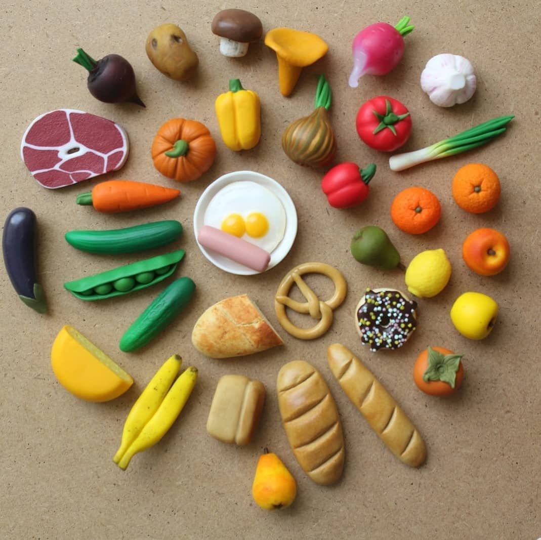 диапазон характеристик картинки еда для кукол из пластилина процесс, котором