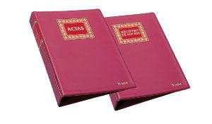 Libro registro de socios forrado tela 100h  recambiables numeradas a4